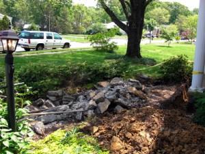 sidewalk demolition