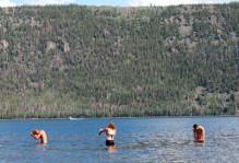 bathing in Fish Lake