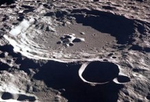 A picture of a moon crater