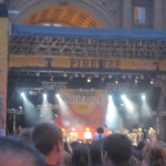 Simple Minds performing outside at Piazza della Repubblica on the fourth of July