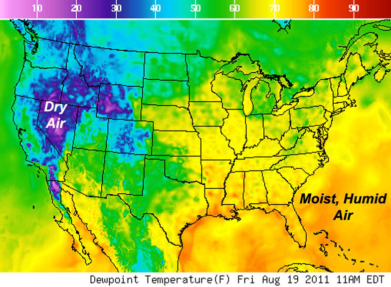 Dewpoint Map