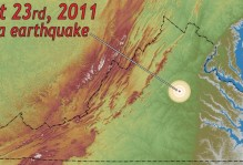 a figure depicting a Virginia earthquake on August 23rd, 2011