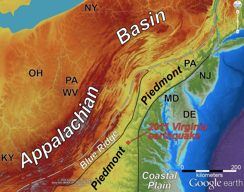 Appalachian topography