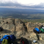 Gear at the Summit of Marshal Mountain