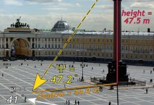 Palace Square in St. Petersburg, Russia.