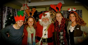 We got our free picture with Santa!