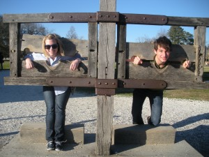 As my best friend prepared to graduate in May, we made a list of all the things we wanted to do together before then, including a trip down DoG Street in Colonial Williamsburg.  A picture in the stocks is a must during any trip into CW!