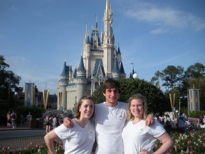 March: The first full week of March is Spring Break at William and Mary.  I drove to Disneyworld with my best friends, Megan and Kevin, before they graduated in May.  We definitely made a lot of memories there!