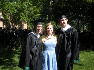May: On a warm day in May, Megan and Kevin, graduated from William and Mary.  While a sad day, I was so excited to spend this special moment with them and their families.  Luckily they come back to visit often.