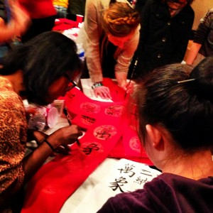 Calligraphy at CSO's Chinese New Year