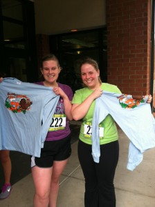 November: The Rec Center hosts an annual 5k run, free for all participants, called the Bee and Goody.  This was the first race I had ever completed, I loved being able to cross the finish line with my freshman hallmate, Claire!