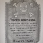 A print out of a tombstone