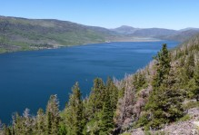 View to the north of Fish Lake from Mytoge Mtn.