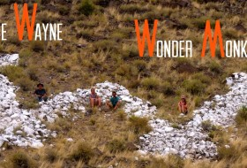 The Wayne WonderMonkeys at the Wayne County W (whitewashed volcanic boulders on a hilltop above Bicknell, Utah).