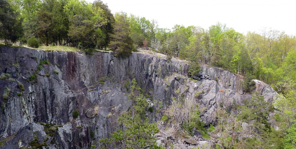 View to the northeast of abandoned rock quarry near Rockfish, Virginia