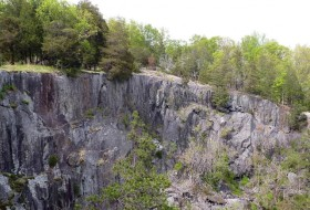 View to the northeast of abandoned rock quarry near Rockfish, Virginia.