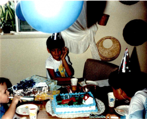 Birthday party as a kid.