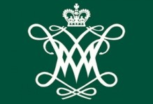 a WM postcard, with the wm logo and a green background