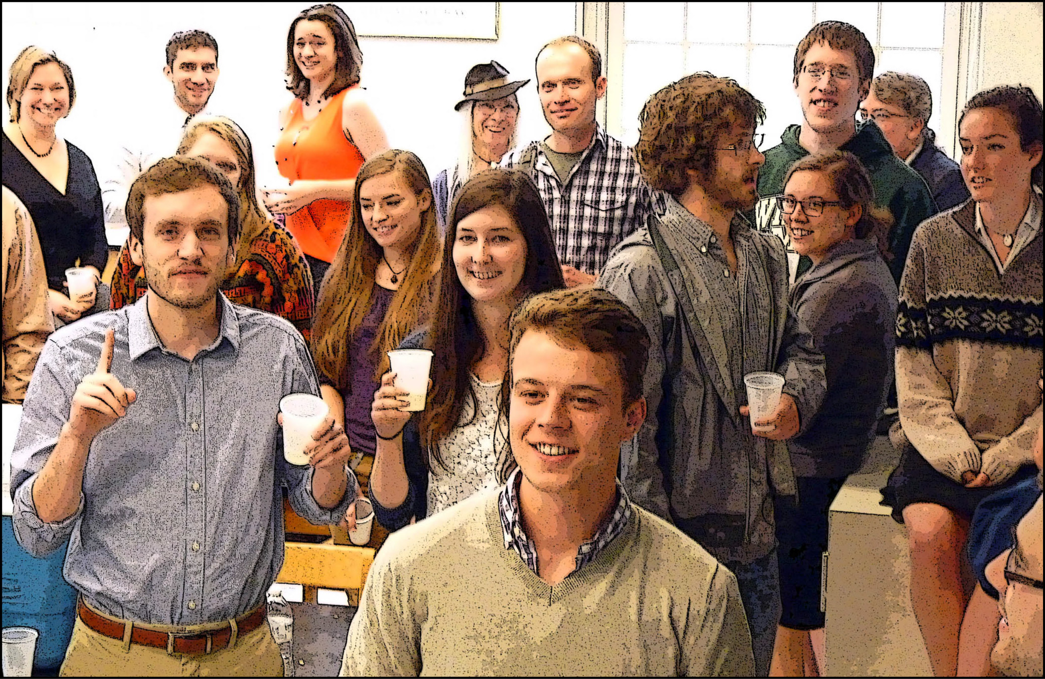 Bubbly Time!  A Senior Research Saturday celebration with some of the W&M Geology class of 2014.