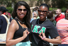 Members of AKA sorority