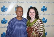 Meeting with Mohammad Yunus, founder of the Grameen Bank and winner of the 2006 Nobel Peace Prize.
