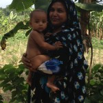 Mother borrower and baby