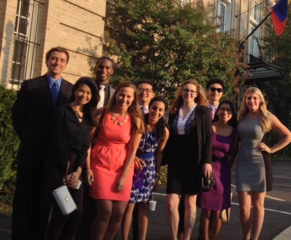 Myself and the other DC scholars outside of the Embassy of Ecuador