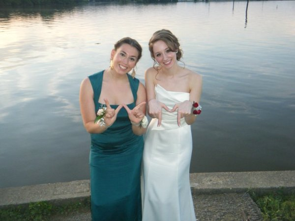 Me and Kelly Todd '15 showing our Tribe Pride at Prom in 2011