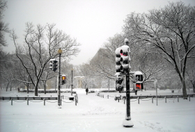 Dupont Circle in the snow