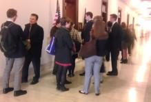 The US Senate inside a corridor