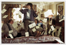 Harry Potter receiving letters from Hogwarts