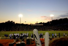 a view from the tribe side of the stadium during a football game