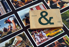 a William and Mary canvas laid across other photos