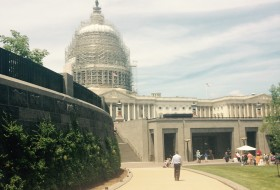 a photo of the capitol building under refurbishment