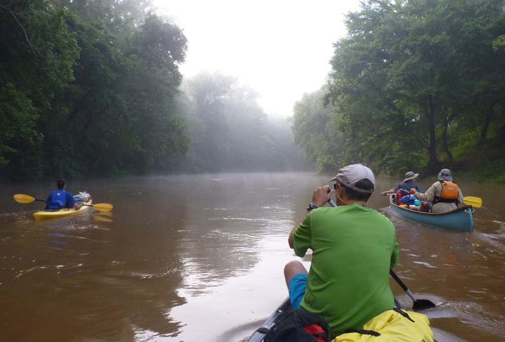 Day 4- Off into the morning mist on the Rivanna River.