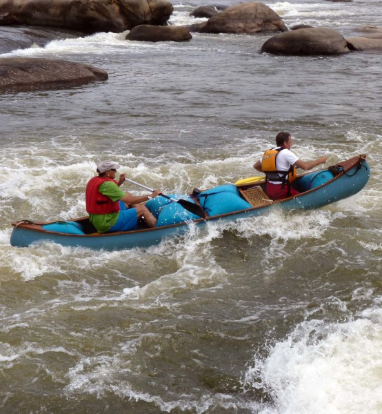 William & Mary Geology alums Scott Harris and Todd Beach making it look easy in the Fall Zone rapids in Richmond, Virginia