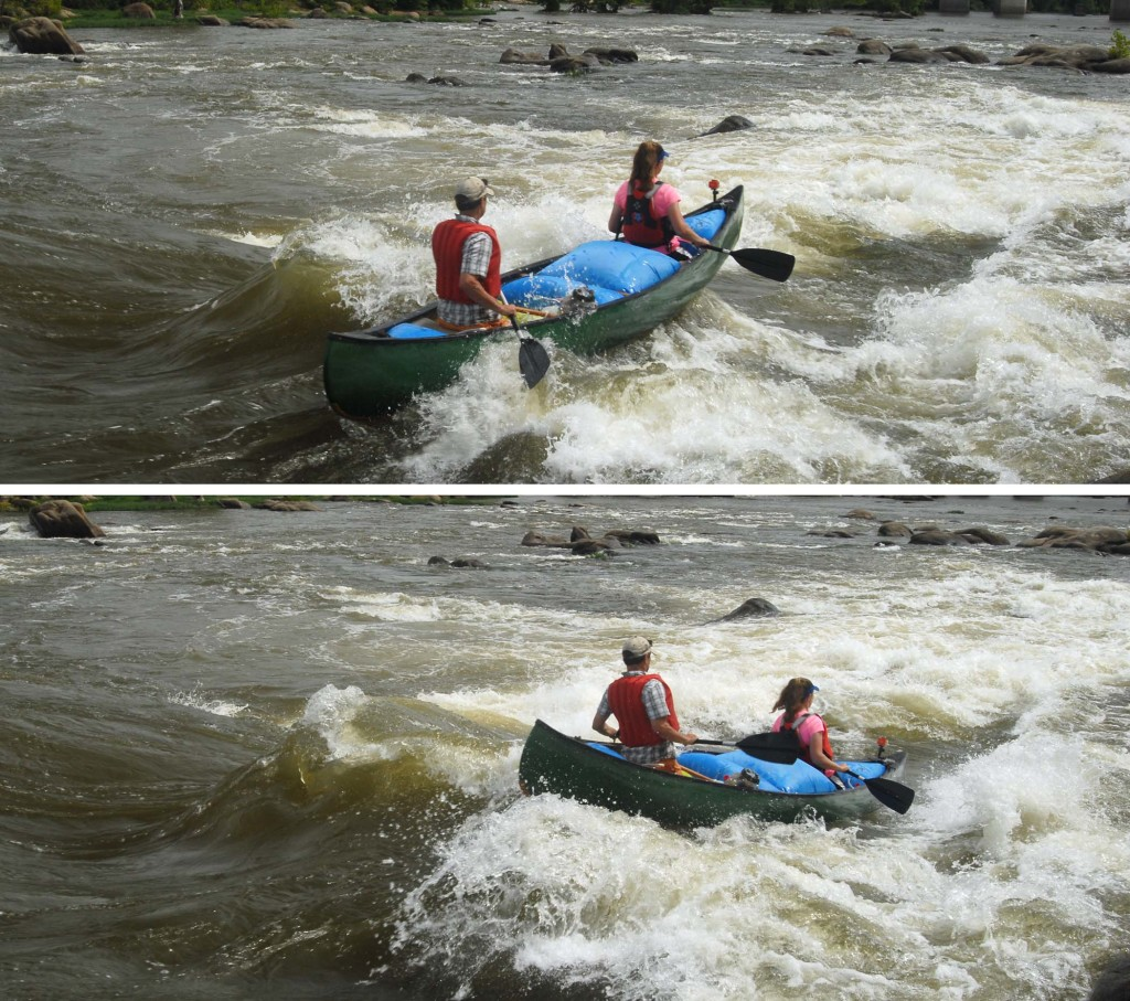 Bucking on through Hollywood Rapids.