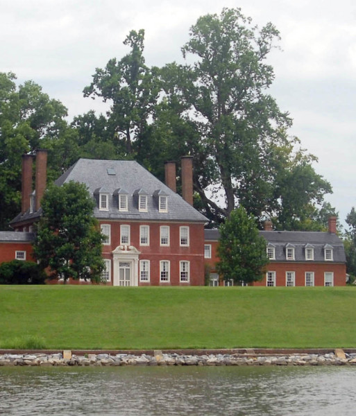 Westover Plantation from the James River.
