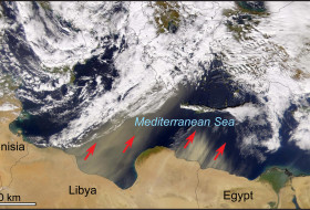 The Sirocco at work.  NASA imagery from the SeaWiFS Project, 5 February 2003. (http://oceancolor.gsfc.nasa.gov/FEATURE/IMAGES/S2003036110156.L1A_HROM.SaharaDust.jpg)