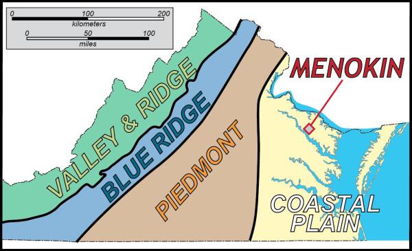 Menokin is located on the Atlantic Coastal Plain.