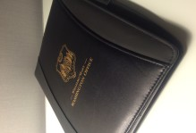 William and Mary Washington office leather portfolio