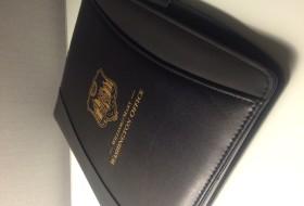 William and Mary Washington office leather portfolio