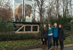 Outside of the Smithsonian's National Zoo -Photo credits to Megan Jones-