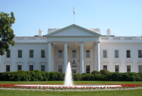 A front view of the White House
