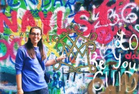 I stumbled upon the William & Mary cipher at the John Lennon Wall in Prague!