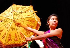 A girl Dancing in FASA's Annual Culture Night 2012. Photo by Cecilia Esteban.