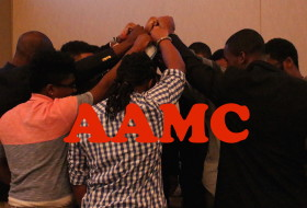 AAMC group huddle photos