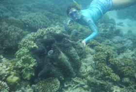 Kharis with a giant clam