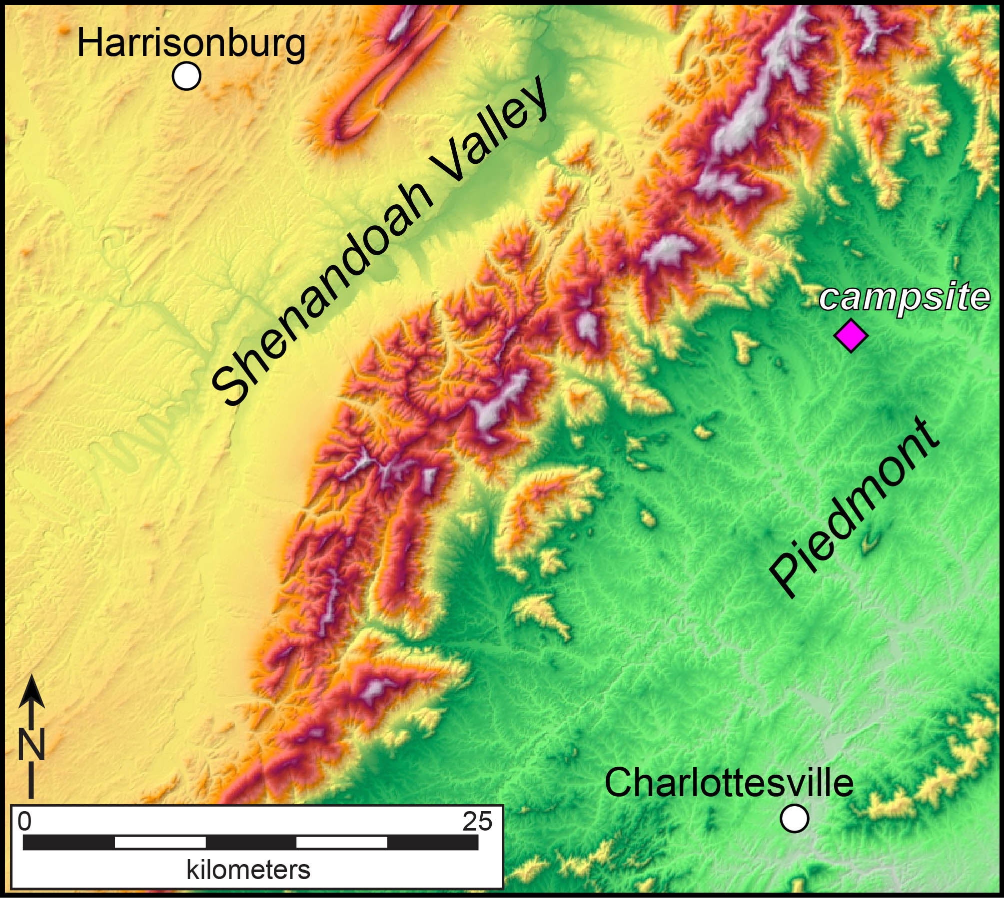Relief Map Of Virginia.Comfortably Disoriented In The Blue Ridge Mountains The William