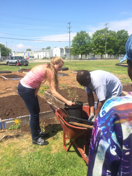 Arbor Day in the Southeast Community. Photo courtesy of Jonathon Lubrano.
